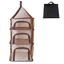 Hanging Dish Dry Net NewKingStar 3 Layer Collapsible Camping Drying Rack Picnic Food Dryer Mesh for Outdoor Dry Hydroponics Basket for Fruits Vegetable Kitchen Utensils