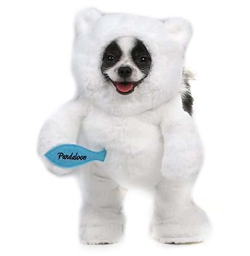 Pandaloon Panda Puppy Dog and Pet Costume Set - Walking Teddy Bear with Arms (Size 1 (13-14.5 in total height), Polar Bear (White)) - Yorkie Teddy Bear Costume