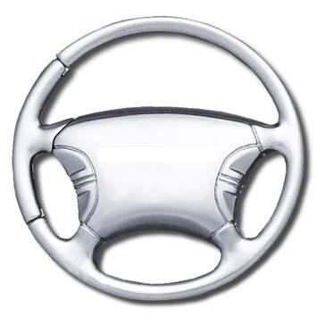 Blank Steering Wheel Key Chain - Key Fob