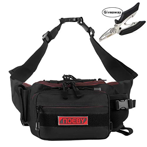 - NOEBY Fishing Bag + Portable Fishing Plier Outdoor Fishing Tackle Bag Multiple Waist Bag Fanny Pack Waterproof Fanny Pack (Mini Pocket-Classic Black)