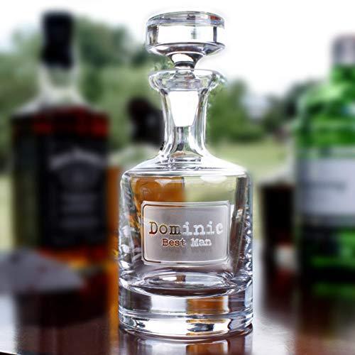 (Best Man Gift Engraved Decanter for Whiskey, Scotch, Bourbon, Rye, Gin, Vodka, Liquor)