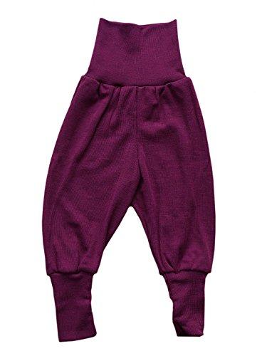 Price comparison product image Organic merino wool silk baby PANTS longies pajama bottom eco (6-12 Months,  Orchid)