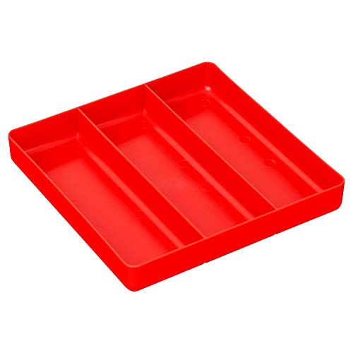 (Ernst Manufacturing Organizer Tray, 3-Compartments, Red)