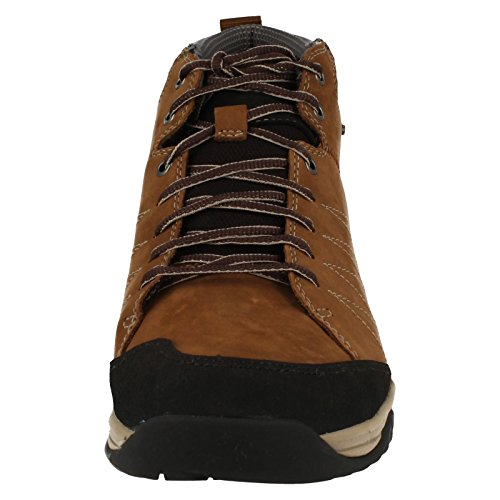 Clarks BaystoneUp GTX Mens Casusal Boots in Tabacco Nubuck