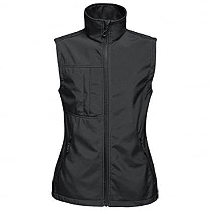 Regatta TRA849 80808L Professional Women's Octagon II 3 Layer Waterproof Softshell Body warmer, Black(Black), 8 1