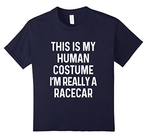 Race Car Girl Halloween Costumes (Kids Funny Racecar Costume Shirt Halloween Men Women Boys Kids 12 Navy)