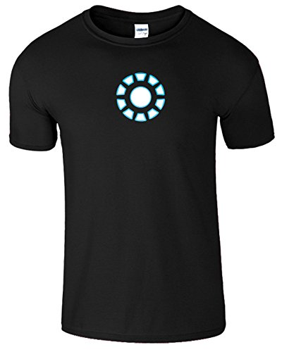 "SNS Online Schwarz (Black) - XL - Brustumfang : 46"" - 48"" - Iron Man Arc Reactor Frauen Der Männer Damen Unisex T Shirt"