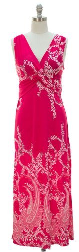 Peach Couture® Paisley Knotted Maxi Dress