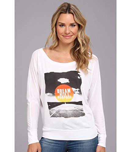 Delivering Happiness Women's Open Road Top White T-Shirt XS