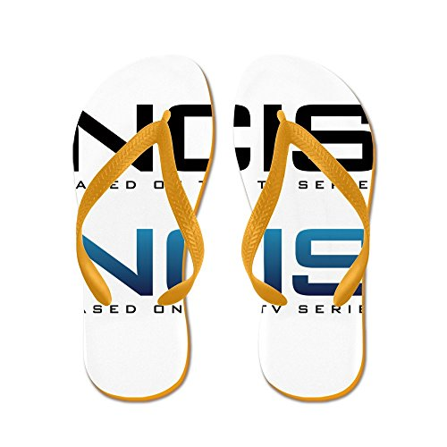 Cafepress Ncis - Flip Flops, Grappige String Sandalen, Strand Sandalen Oranje