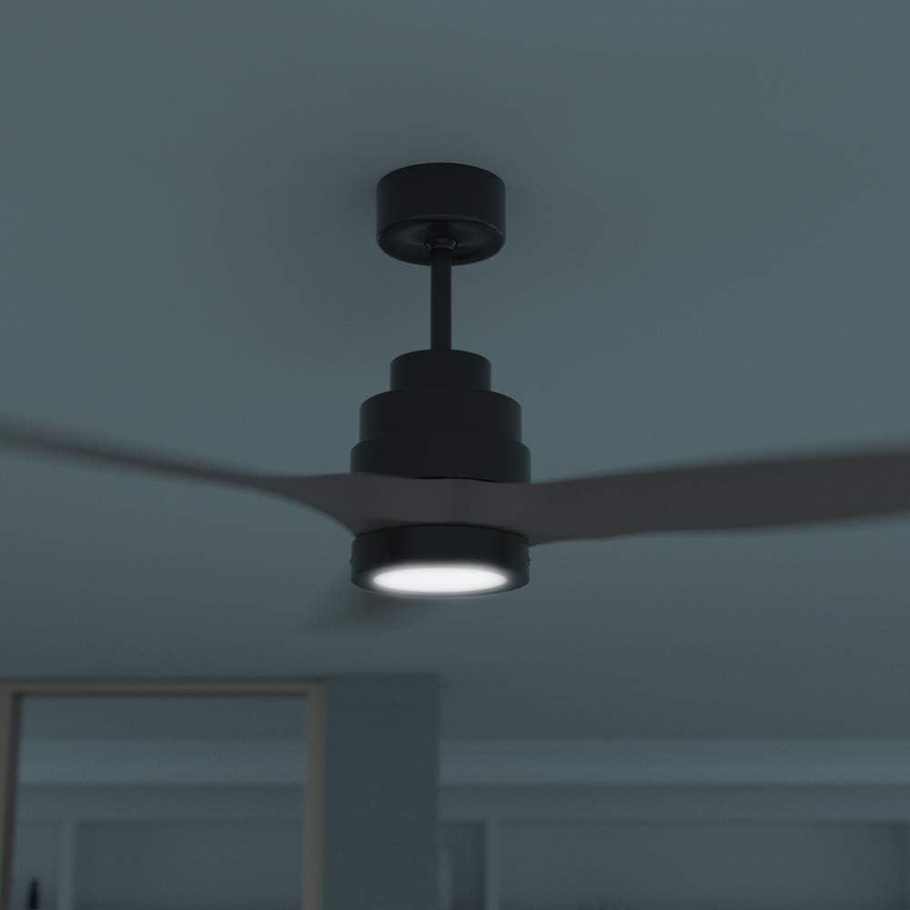 Nogal scuro 35 W Cecotec ForceSilence Aero 3000 Ventilatore da Soffitto Temporizzatore 6 ore Mando a Distanza 3 pale Luz LED Classe energetica A 5 velocit/à