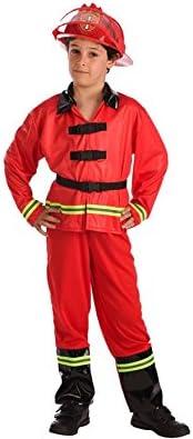 El Rey del Carnaval Disfraz de Bombero para niño: Amazon.es ...