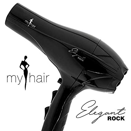 Secador de Pelo Profesional Ligero Potente Elegant Rock 2000W Negro (Black) - My Hair