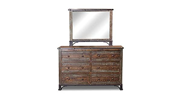 Amazoncom Logan Boulevard Rustic Industrial Solid Wood Dresser And