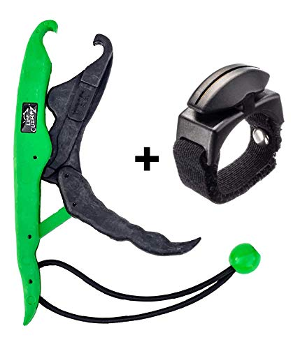 Line Cutterz Lunker Tamers Fish Gripper Ring Combo Pack (Black/Green) (Fishing Line For Sharks)