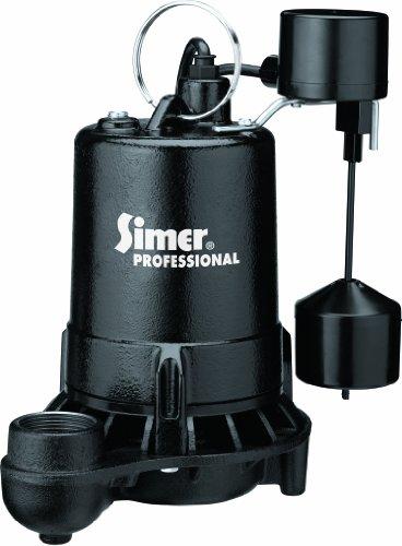Simer 5975 3/4 HP Professional Grade Sump Pump