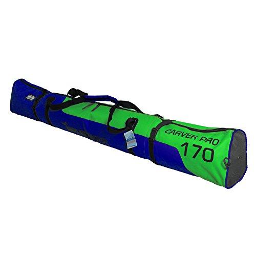 BRUBAKER Padded Ski Bag Skibag Carver Pro 2.0 with strong 2-Way Zip (Pro Ski Bag)