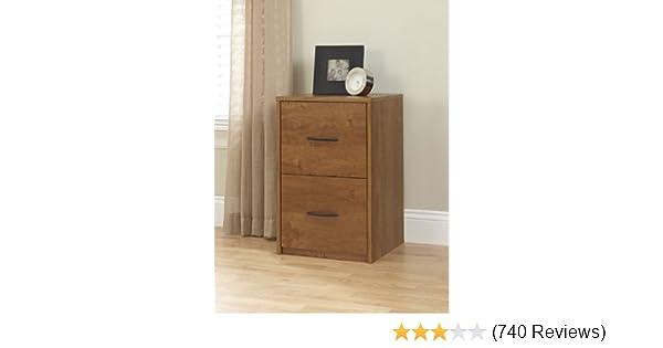 Amazon.com: Ameriwood Home Core 2 Drawer File Cabinet, Bank Adler: Kitchen & Dining