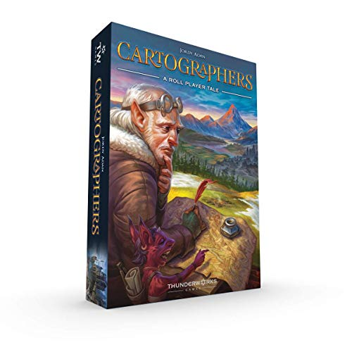 Thunderworks Games Cartographers: A Roll Player Tale Multi-Award-Winning Strategy Boxed Board Game for Ages 12 & Up
