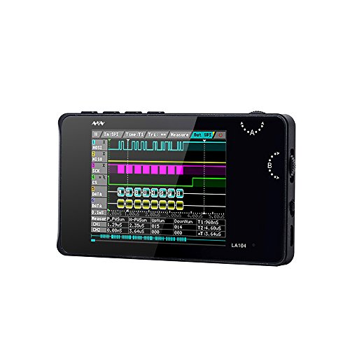 "Oscilloscope, KKmoon Mini DSO LA104 Digital Logic Analyzer Portable 2.8"" Screen 4 Channels Oscilloscope SPI IIC UART Programmable 100Msa/s Max Sampling Rate"
