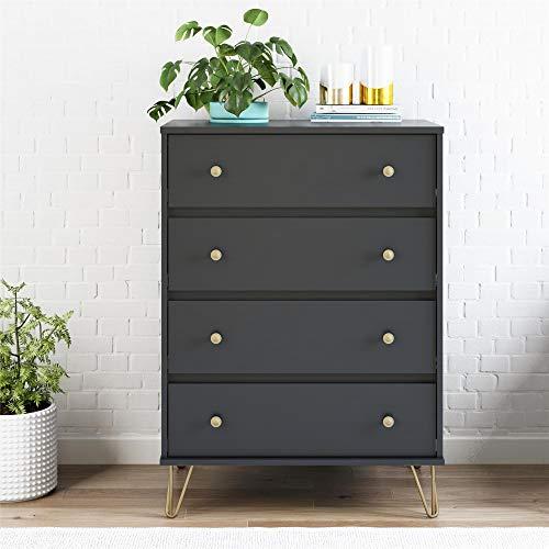 Novogratz Owen 4 Drawer Dresser, Black