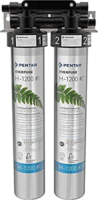 Everpure H-1200 Drinking Water Filter System (EV9282-00). Quick Change Dual Cartridge System. Commercial Grade Water Filtration and Lead Reduction