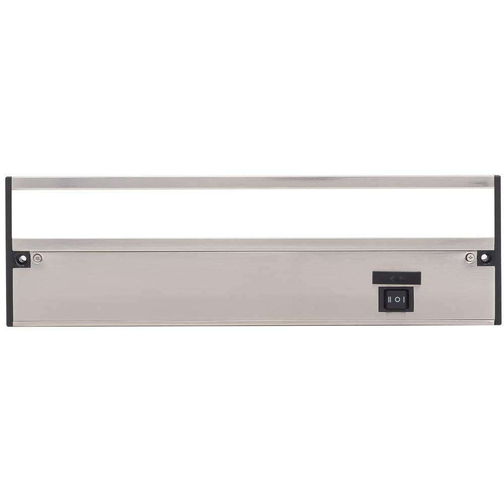 LED Under Cabinet Lighting by NSL 3000K Warm White Cool White Dimmable Hardwired or Plugged-in installation 4000K - 9 Inch Bronze Finish 3 Color Temperature Slide Switch 2700K Soft White