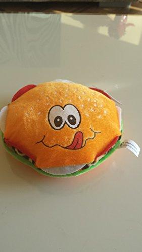 1Plüsch Hamburger 16cm orange oder braun Spielzeug Kuscheltier