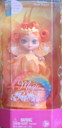 Barbie Fairytopia ORANGE Rainbow TOOTH FAIRY Doll (2006)