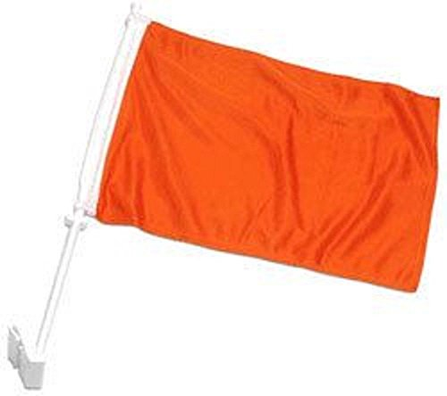 K's Novelties Set of 2  Solid Orange 2ply Car Window Vehicle