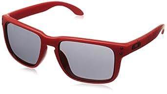 Oakley Men's Holbrook OO9102-83 Rectangular Sunglasses, Red, 55 mm