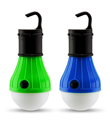 2 PC Camping Lights | Portable LED Light Bulb Fixtures for Camping & Backpacking | Battery Powered Outdoor Hanging Lights | Dimmable LED Light Bulb Camping Lantern Lights by Astorn
