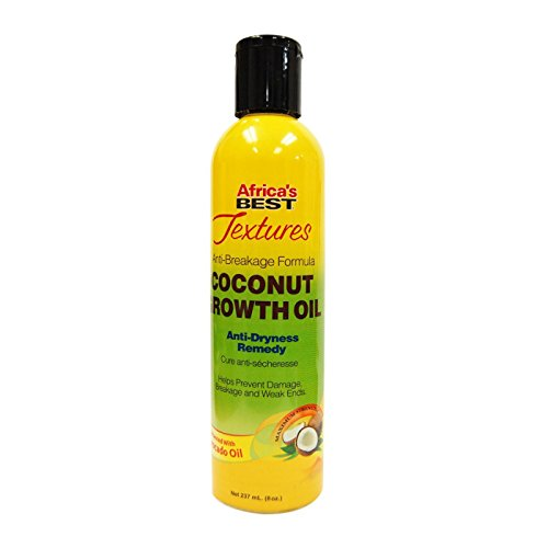 Africa's Best Textures Coconut Growth Oil, Anti-Dryness Oil Hair Therapy, Improves Weak Ends and Enhances Growth, 8 Fluid ounces