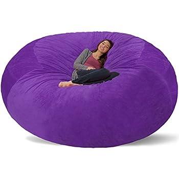 Amazon Com Comfy Sacks 8 Ft Memory Foam Bean Bag Chair