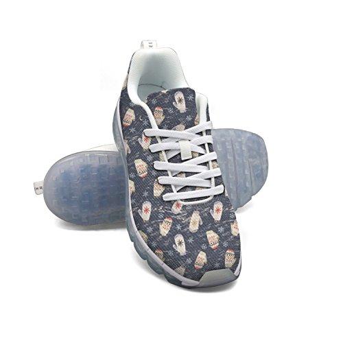 Faaerd Mittens Winter Holiday Cold Snow Snowflake Mens Fashion Leggero Mesh Air Cushion Sneakers Scarpe Da Corsa