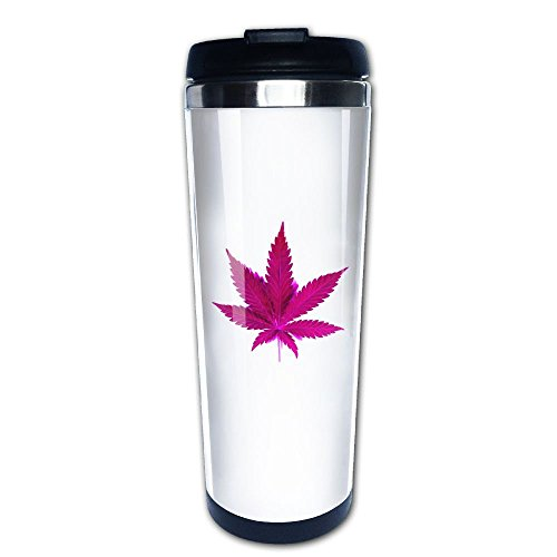 Maple Toronto Travel Mug Leafs (Lojaon Coffee Cup Tumbler Mug 304 Stainless Steel Liner,Weed Leaf Art Print Office Mug 400 Ml Water Bottles Portable Thermos Vacuum Flask)