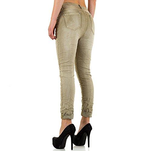 Mozzaar Plus Size Boyfriend Jeans Für Damen , Hellbraun In Gr. 46 bei Ital-Design