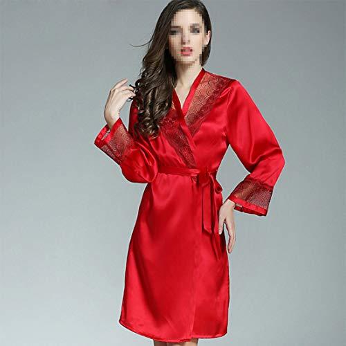 Piezas Shiduoli Invierno Vestido Seda 01 Fiesta Seda Size Para color Traje Otoño 03 L De Pijama Albornoz El 2 rOS8XrqB