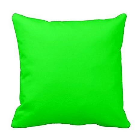 Amazon.com: Funda de almohada color verde neón color sólido ...