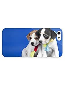 3d Full Wrap Case for iPhone 5/5s Animal Adorable Puppies by runtopwell