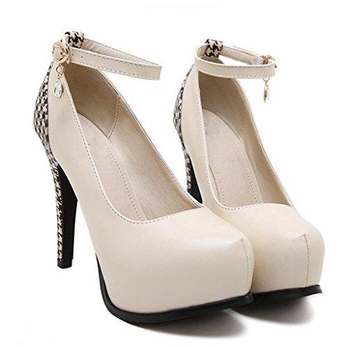 798ab695 W&LM Sra Tacones altos De acuerdo Tacones altos Boca rasa Piedras de Strass  Zapatos de tobillo