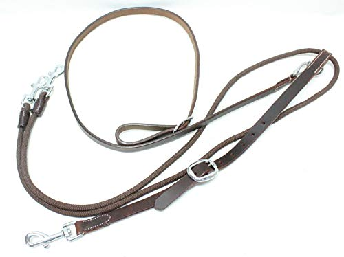D.A. Brand Chestnut Leather German Martingale/Reins Set Western Horse -