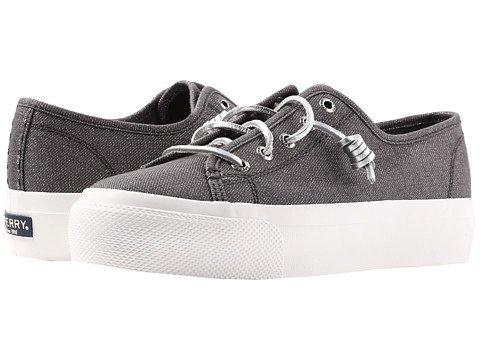 (スペリートップサイダー) SPERRY TOPSIDER レディースウォーキングシューズ?カジュアルスニーカー?靴 Sky Sail Metallic Twill Dark Grey 6.5 23.5cm M (B) [並行輸入品]