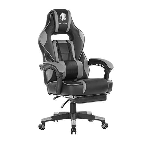 KILLABEE Reclining Memory Foam Racing Gaming Chair - Ergonomic High-Back Racing Computer Desk Office Chair with Retractable Footrest and Adjustable Lumbar Cushion, ()