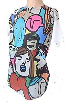 Terrapin Trading Ltd GibGae Boutique Label Trendy Limited Print Bright Amine Graffiti Mens T-Shirt