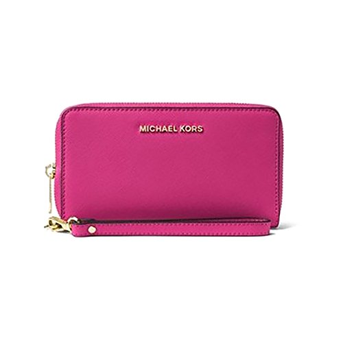 Michael Kors Women's Jet Set Travel Large Smartphone Wristlet, Raspberry, OS by Michael Kors