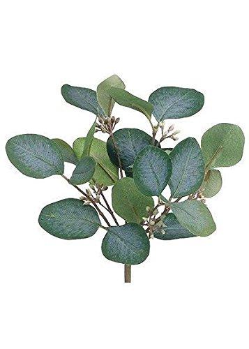 Artificial Silver Dollar Eucalyptus Bush In Grey Green9quot