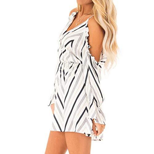 Kiminana Womens Summer Casual Polka Dots Sleeveless Loose Beach Maxi Dress V-Neck