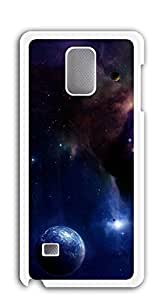 Hard Back Shell Case Cover cell phone case for samsung galaxy note4 - Star Universe clouds
