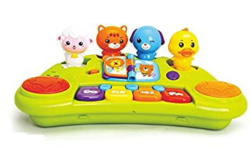 Buy GoAppuGo Musical Toy Piano With 4 Removable Animal Sounds Toys